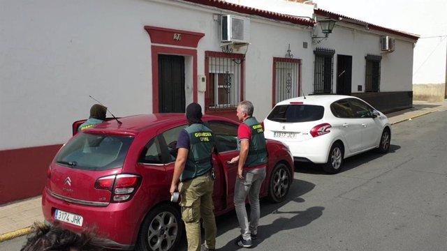 Vehículo incautado en Bollullos del Condado en la macrooperación contra el tráfico de hachís