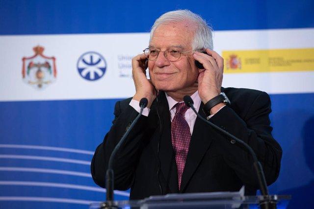 Josep Borrell a Barcelona, a 10 d'octubre del 2019.