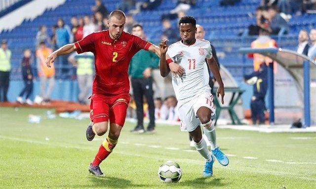 Fútbol/Sub-21.- Crónica del Montenegro - España, 0-2