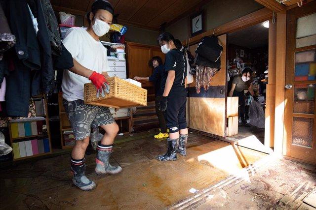 El tifón 'Hagibis' provoca inundaciones y destrozos en miles de viviendas en Japón.