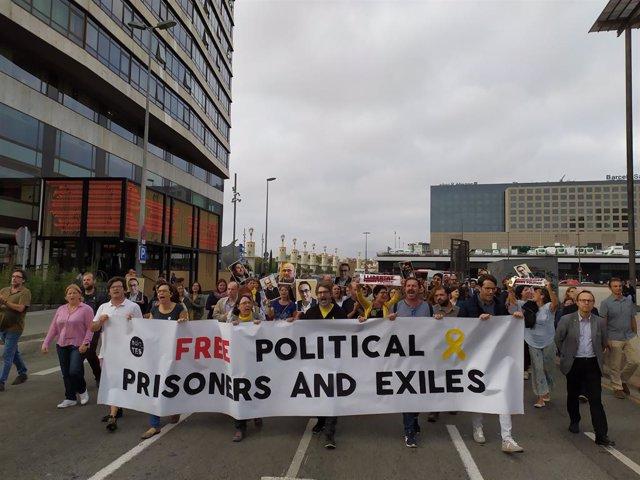 Manifestació de protesta després de la sentncia de l'1-O (Recurs)