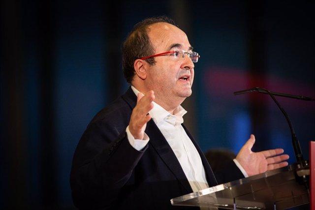 El primer secretari del PSC, Miquel Iceta, intervé en un acte polític socialista