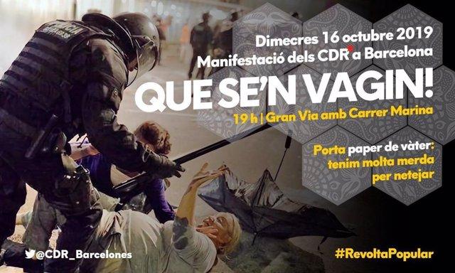 Los CDR llaman a la movilización este 16 de octubre