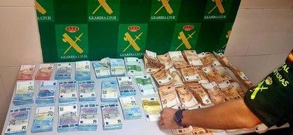 Interceptado en la zona fronteriza hispano-lusa de Lopo (Badajoz) un hombre con 71.000 euros sin declarar