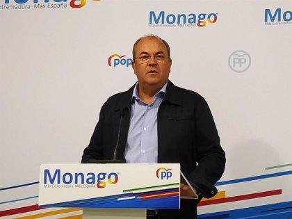 """Monago cree que la Junta retrasa los presupuestos para no anunciar """"recortes"""" antes de las elecciones del 10-N"""