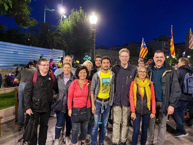 El conseller Damià Calvet participa en una de les cinc 'Marxes per la llibertat' des de Tarragona.