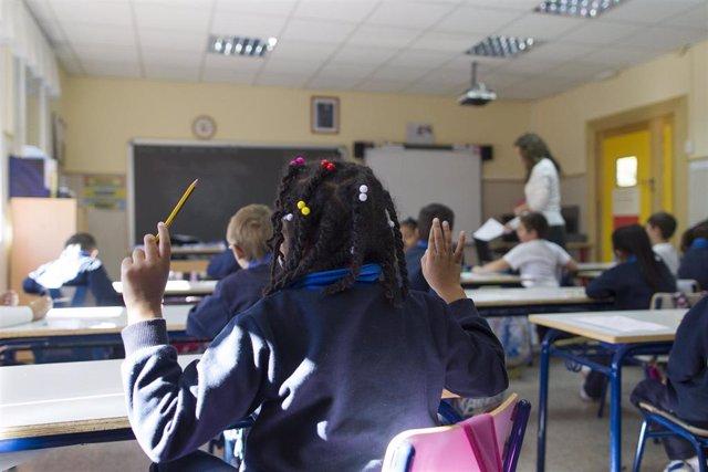 Clase en un colegio de Madrid.