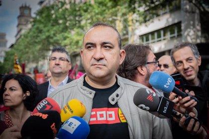"""CC.OO. de Catalunya defiende una """"política con mayúsculas"""" y condena todo tipo de violencia"""
