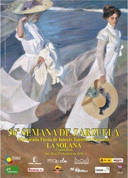 Cartel de la Semana de la Zarzuela de la Solana.