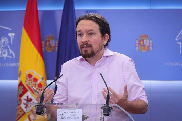 El líder d'Unides Podem, Pablo Iglesias