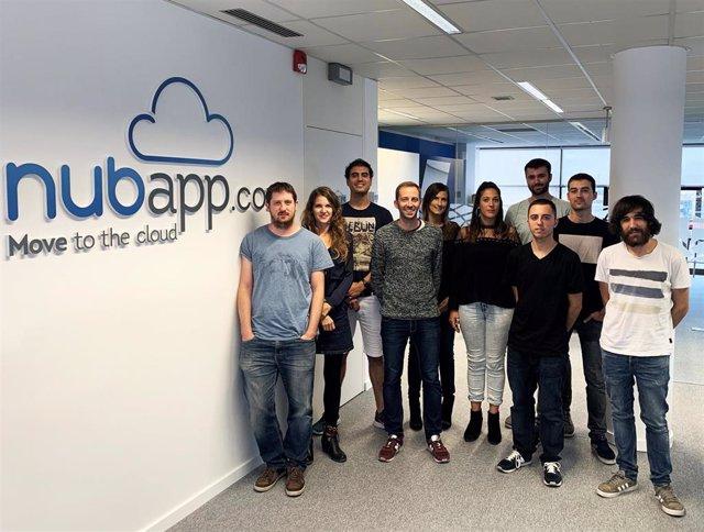 Equipo de la empresa tecnológica navarra NUBAPP.