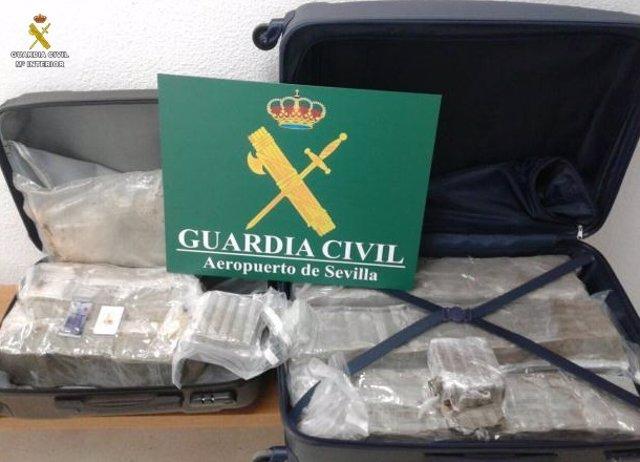Droga incautada en el Aeropuerto
