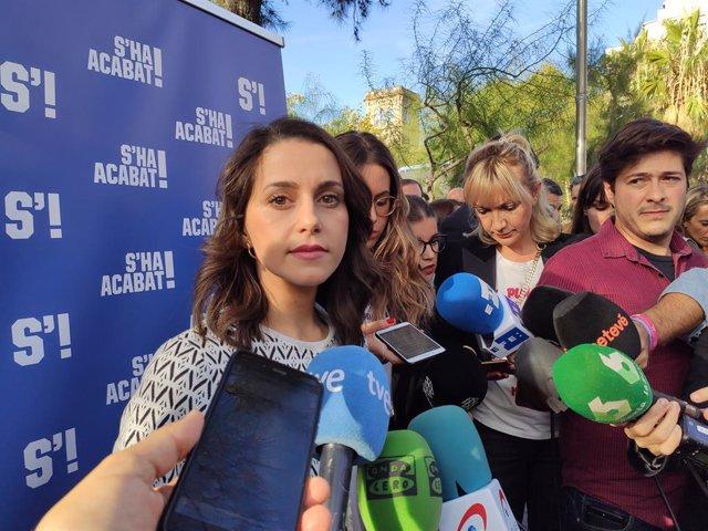 La Portaveu de Cs al Congrés,  Inés Arrimadas
