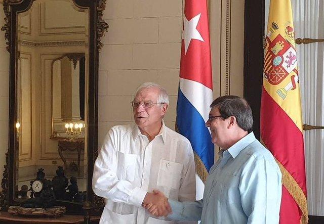 Josep Borrell y Bruno Rodríguez