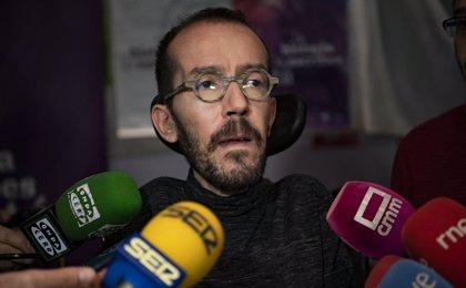 Echenique responde a Pastor que la represión no es solución en Cataluña