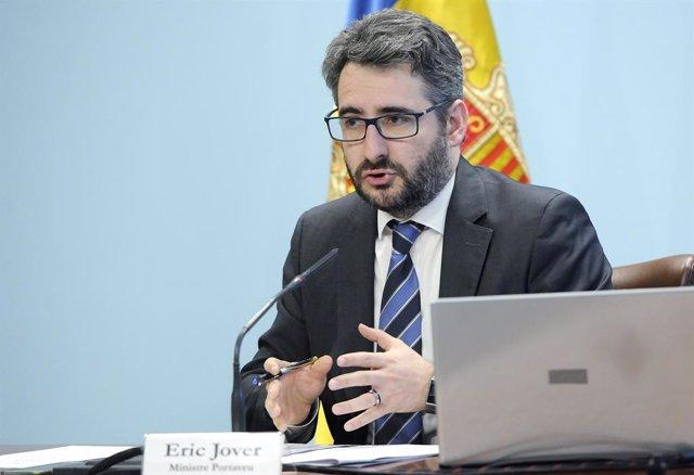 El ministre portaveu del Govern d'Andorra, Èric Jover