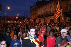 La columna de les Marxes per la Llibertat de Berga arriba a Manresa davant d'una gran expectació (ACN)