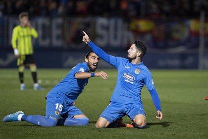 El Fuenlabrada, en puestos de ascenso directo tras derrotar al Zaragoza