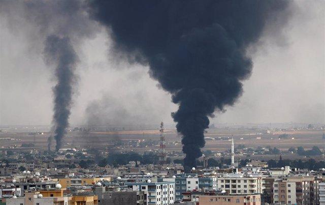 Ataques sobre Ras al Ain en Siria.