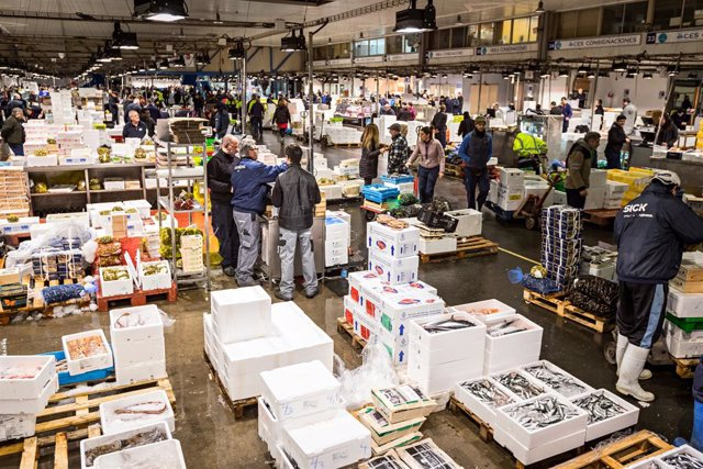 Mercat Central del Peix de Mercabarna, a Barcelona