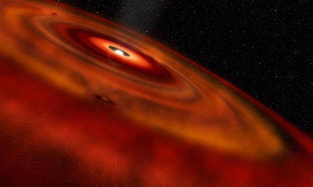 Cascadas de gas anuncian la formación de planetas