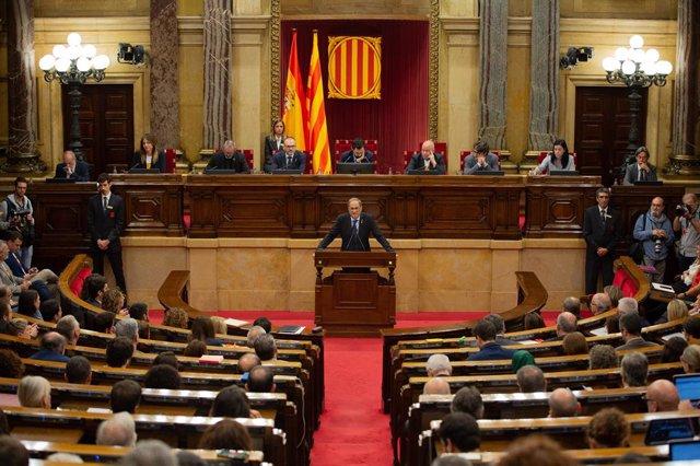 El president Quim Torra compareix al Parlament