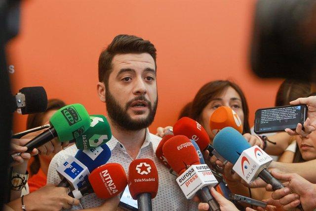 Imatge d'arxiu del portaveu de Cs a l'Assemblea de Madrid, César Zafra.