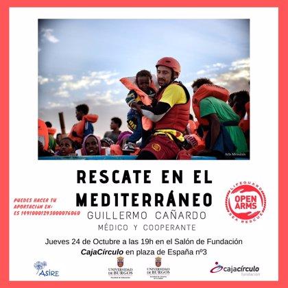 Guillermo Cañarno, médico de Proactiva Open Arms, abordará en Burgos el rescate de migrantes en el Mediterráneo