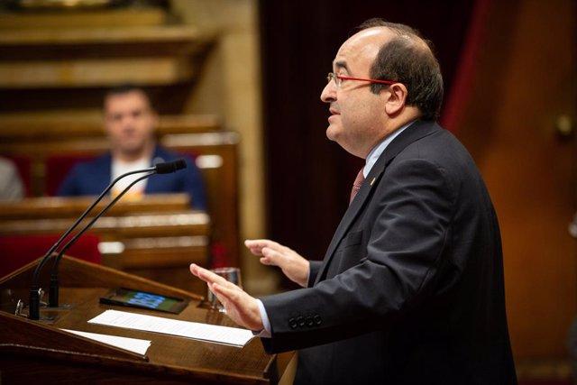 Miquel Iceta intervé al Parlament