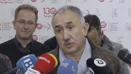 """Álvarez cree que la huelga general en Cataluña """"no aporta nada"""" y pide hablar y acabar con la violencia"""