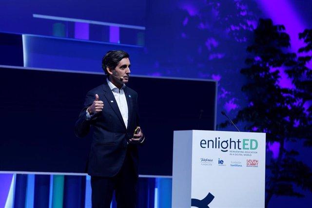 El presidente ejecutivo de Telefónica, José María Álvarez-Pallete, en el foro Enlighted 2019