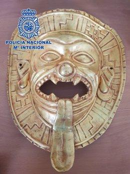 Intervienen una pieza prehispánica expoliada en Colombia que iba a ser vendida e