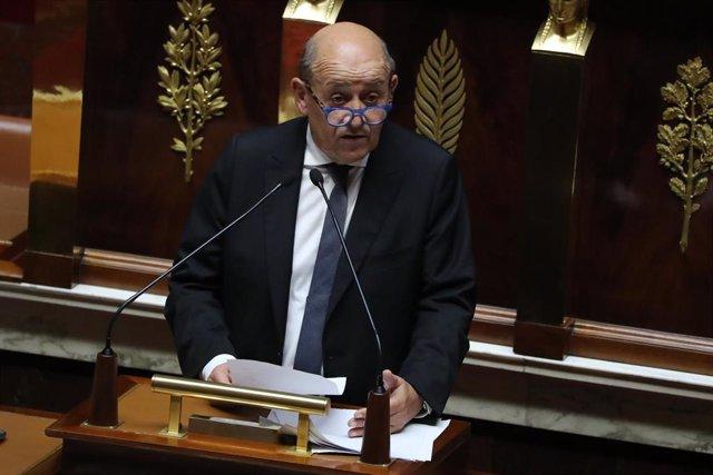 Jean-Yves Le Drian, en una comparecencia parlamentaria