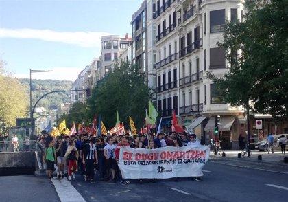 Detenidos en Vitoria 19 jóvenes en una de las manifestaciones contra la sentencia del 'procés'