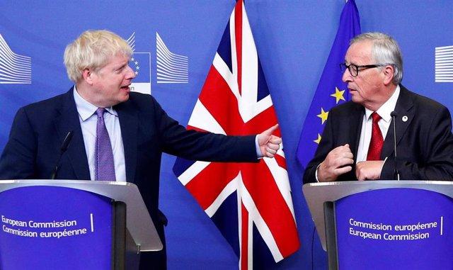 Boris Johnson y Jean-Claude Juncker