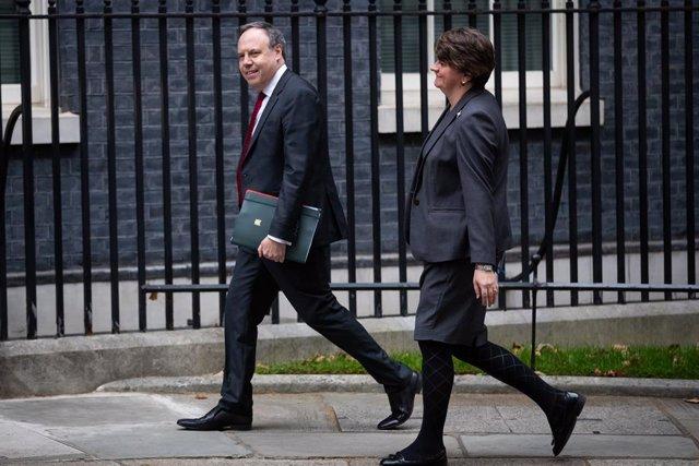 Arlene Foster i Nigel Dodds, líders del DUP