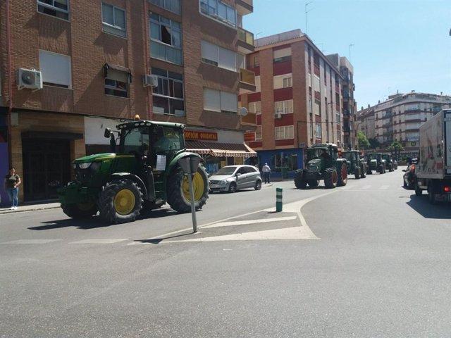 Tractors participants en la tractorada (arxiu)