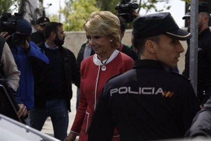 Aguirre declarará mañana ante el juez de Púnica por la presunta 'caja B' del PP de Madrid