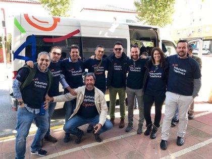 Medio millar de empleados andaluces de Telefónica se implican en las actividades del Día del Voluntario
