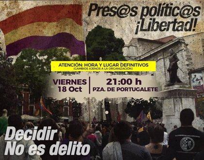 Comunican que la concentración de apoyo a los presos en Valladolid será en Portugalete a las 21.00 horas