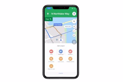 Google Maps ya avisa de obras, carriles cortados y vehículos averiados