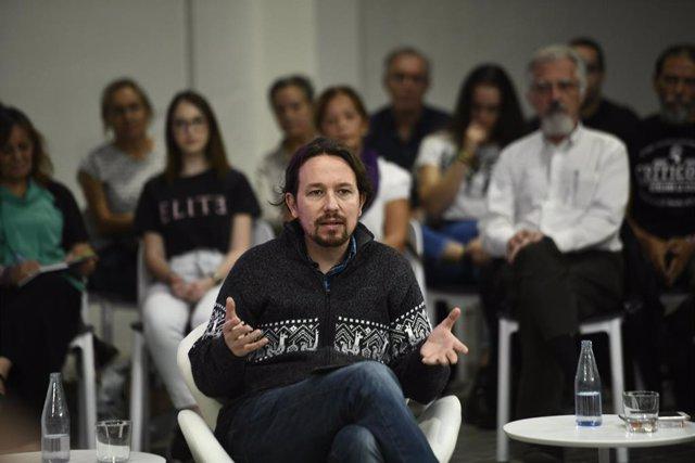 El secretari general de Podem, Pablo Iglesias, en el debat `Emergencia climática y luchas ambientales en España, Madrid, 10 d'octubre del 2019.