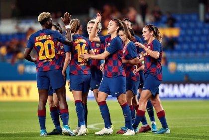 'Manita' del Barça al Minsk en los octavos de la Champions femenina
