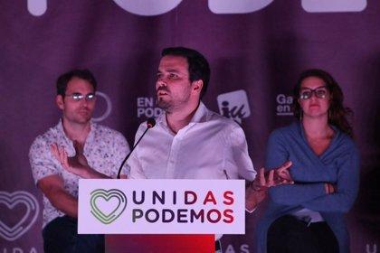 """Garzón cree que el objetivo de la nueva campaña es """"sacar del carril"""" a Unidas Podemos porque obstaculizan recortes"""