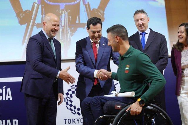 JJ.OO.- Juanma Moreno valora el impulso al Plan Andalucía Olímpica de cara a Tok