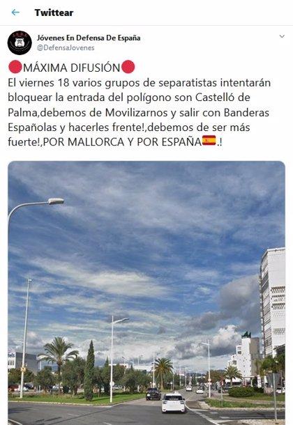 Normalidad en las carreteras de Mallorca, incluso en Son Castelló, donde se esperaban concentraciones por la sentencia