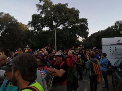 Las 'Marxes per la Llibertat' avanzan en su tercer día hacia Barcelona