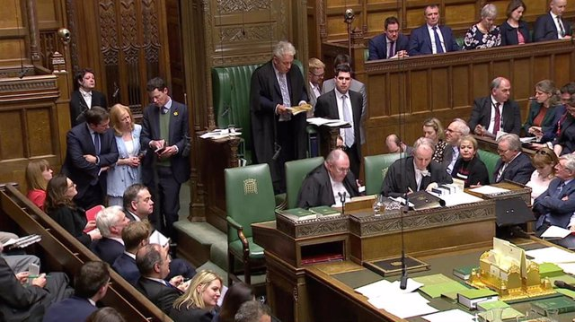 El presidente de la Cámara de los Comunes, John Bercow, tras una votación sobre el Brexit