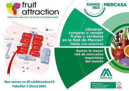 Mercasa promocionará en Fruit Attraction 2019 la oferta de frutas y verduras de la red de mercas