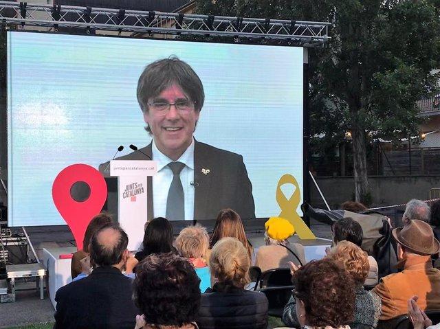 Míting de Carles Puigdemont (JxCat)